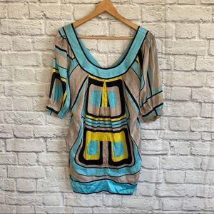 3/$30🦋 BEBE 100% Silk Dress